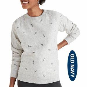 Old Navy Relaxed Crew-Neck Sweatshirt Love Print